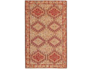Tapis D'orient Kilim Soumak Shahsavan 201x123 Orange/Rose (Laine, Perse/Iran, Noué à la main)