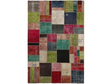 Tapis Patchwork 299x199 Moderne/Design Gris Foncé/Rose (Noué à la main, Laine, Perse/Iran)
