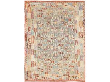 Tapis Authentique Kilim Afghan Heritage 374x278 Beige/Orange (Laine, Afghanistan, Tissé à la main)