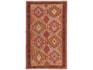 Tapis D'orient Kilim Soumak Shahsavan 204x126 Beige/Orange (Perse/Iran, Laine, Noué à la main)