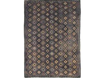 Tapis Authentique Kilim Afghan Heritage 346x250 Gris Foncé/Marron Foncé (Laine, Afghanistan, Tissé à la main)