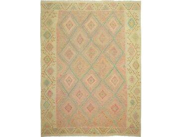 Tapis Kilim Afghan Heritage 338x254 Moderne/Design Beige (Tissé à la main, Laine, Afghanistan)