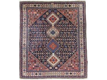 Tapis Persan Yalameh 300x261 Yalameh Gris Foncé/Violet (Noué à la main, Perse/Iran, Laine)