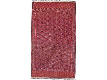 Tapis Kilim Soumak 359x208 Rouge/Rouille (Laine, Afghanistan, Noué à la main)