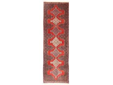 Tapis D'orient Senneh 281x89 Coureur Orange/Violet (Laine, Perse/Iran, Noué à la main)