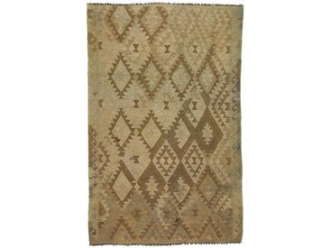 Tapis Authentique Kilim Afghan Heritage 250x157 Beige/Marron Foncé (Laine, Afghanistan, Tissé à la main)