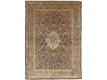 Tapis Fait Main Kerman 244x176 Gris Foncé/Marron Foncé (Laine, Perse/Iran)