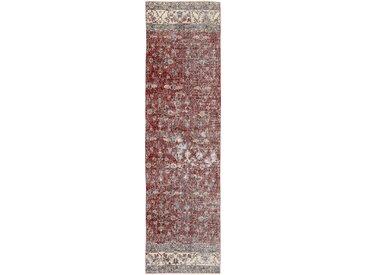 Tapis Vintage Royal 306x83 Coureur Gris/Rouge (Laine, Perse/Iran, Noué à la main)