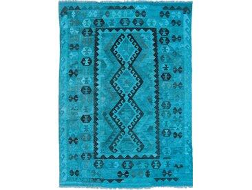 Tapis D'orient Kilim Afghan Heritage Limited 235x171 Bleu Foncé/Turquoise (Afghanistan, Laine, Tissé à la main)
