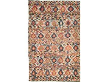 Tapis Kilim Fars Mazandaran Antique 251x161 Orange/Rose (Laine, Perse/Iran, Noué à la main)