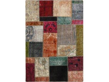 Tapis Persan Patchwork 198x142 Patchwork Beige/Marron (Noué à la main, Perse/Iran, Laine)