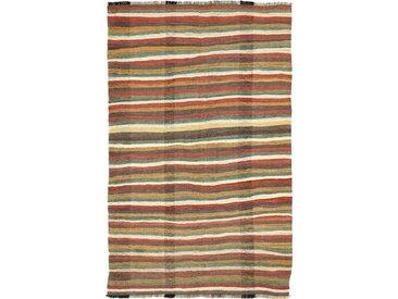 Tapis Kilim Fars Antique 297x186 Marron Foncé/Orange (Laine, Perse/Iran, Noué à la main)