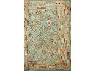 Tapis Tissé à la Main Kilim Afghan Heritage 483x389 Beige/Vert Foncé (Laine, Afghanistan)