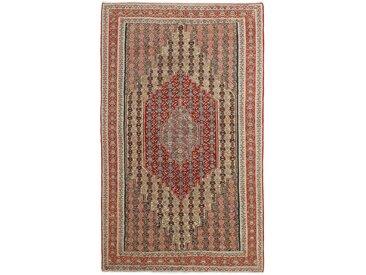 Tapis Fait Main Kilim Senneh 246x147 Marron Foncé/Rouille (Laine, Perse/Iran)