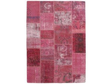 Tapis Fait Main Patchwork 200x140 Rouge/Rose (Laine, Perse/Iran)