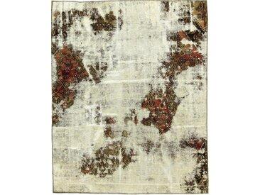 Tapis D'orient Vintage Royal 201x159 Gris Foncé/Beige (Perse/Iran, Laine, Noué à la main)