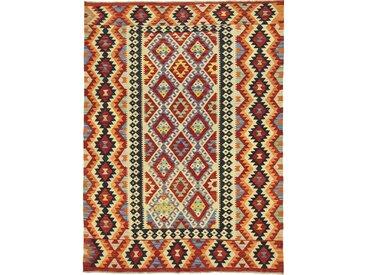 Tapis D'orient Kilim Afghan Heritage 240x180 Marron Foncé/Rose (Afghanistan, Laine, Tissé à la main)