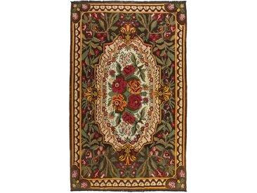 Tapis Kilim Rosen 333x194 Gris Foncé/Beige (Laine, Moldavie, Noué à la main)