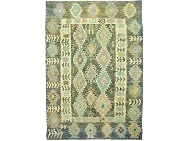 Tapis Kilim Afghan Heritage 284x202 Moderne/Design Beige/Marron Foncé (Tissé à la main, Laine, Afghanistan)