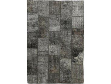 Tapis Patchwork 236x169 Moderne/Design Gris Foncé/Marron Foncé (Noué à la main, Laine, Perse/Iran)