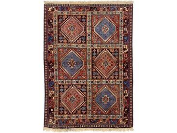 Tapis Yalameh Aliabad 147x101 Moderne/Design Gris Foncé/Violet (Noué à la main, Laine, Perse/Iran)