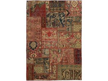 Tapis Patchwork Malayer 199x141 Gris Foncé/Marron (Laine, Perse/Iran, Noué à la main)