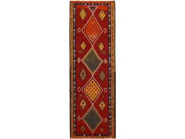 Tapis Fait Main Kilim Fars Azerbaijan Antique 344x115 Coureur Gris Foncé/Marron (Laine, Perse/Iran)