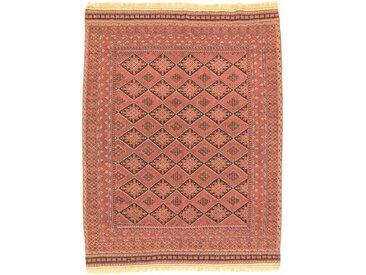 Tapis Kilim Sirjan 185x143 Orange/Rose (Laine, Perse/Iran, Noué à la main)