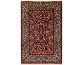 Tapis D'orient Ispahan Ancien 295x196 Gris Foncé/Violet (Laine, Perse/Iran, Noué à la main)