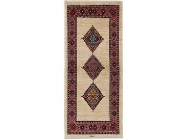 Tapis Persan Gabbeh Loribaft 198x85 Coureur Beige/Marron Foncé (Laine, Perse/Iran, Noué à la main)