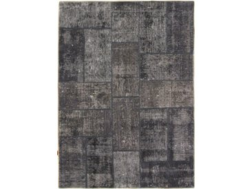 Tapis Patchwork 208x157 Gris Foncé (Laine, Perse/Iran, Noué à la main)