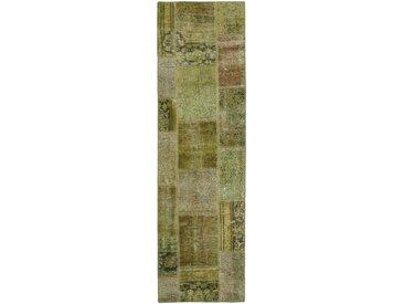 Tapis Patchwork 251x70 Beige/Marron Foncé (Laine, Perse/Iran, Noué à la main)