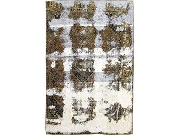 Tapis D'orient Vintage Royal 281x184 Gris/Marron Foncé (Perse/Iran, Laine, Noué à la main)
