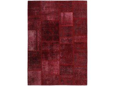Tapis Patchwork 202x143 Rouille/Violet (Laine, Perse/Iran, Noué à la main)