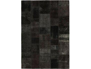 Tapis Persan Patchwork 239x171 Patchwork Gris Foncé/Marron Foncé (Noué à la main, Perse/Iran, Laine)