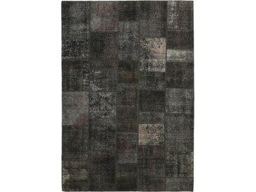 Tapis Patchwork 301x205 Moderne/Design Gris Foncé/Marron Foncé (Noué à la main, Laine, Perse/Iran)