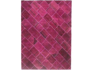 Tapis Patchwork 319x237 Moderne/Design Marron Foncé/Rouille (Noué à la main, Laine, Perse/Iran)