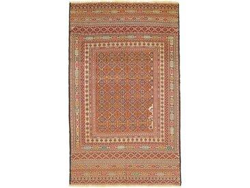Tapis Kilim Sirjan 189x119 Beige/Rouille (Laine, Perse/Iran, Noué à la main)