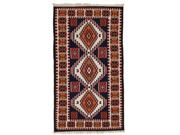 Tapis Kilim Soumak 328x180 Coureur Beige/Rouille (Laine, Perse/Iran, Noué à la main)
