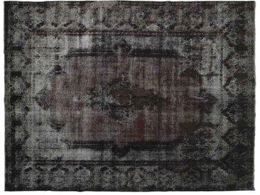 Tapis Vintage Kerman 387x297 Gris Foncé (Laine, Perse/Iran, Noué à la main)