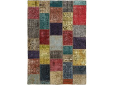 Tapis Patchwork 241x163 Moderne/Design Beige/Rouille (Noué à la main, Laine, Perse/Iran)