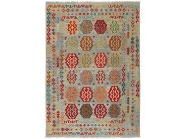 Tapis Kilim Afghan Heritage 301x214 Moderne/Design Gris Foncé/Marron (Tissé à la main, Laine, Afghanistan)