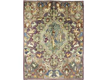 Tapis Persan Kaschmar 393x300 Kaschmar Gris/Marron Foncé (Noué à la main, Perse/Iran, Laine)