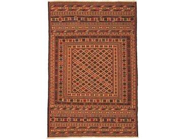Tapis Kilim Nimbaft 183x121 Marron/Orange (Laine, Afghanistan, Noué à la main)