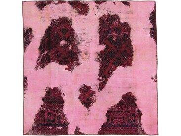 Tapis Vintage Royal 197x198 Carré Rouille/Violet (Laine, Perse/Iran, Noué à la main)