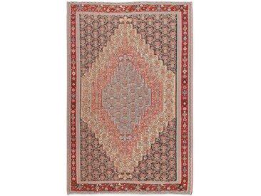 Tapis Kilim Senneh 301x191 Violet/Rose (Laine, Perse/Iran, Noué à la main)