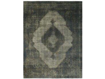 Tapis Vintage Royal 369x288 Gris Foncé/Marron Foncé (Laine, Perse/Iran, Noué à la main)