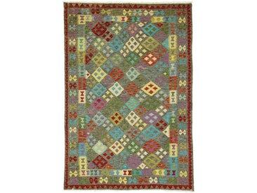 Tapis Kilim Afghan Heritage 298x205 Moderne/Design Beige/Marron (Tissé à la main, Laine, Afghanistan)