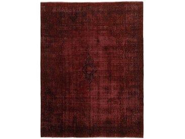 Tapis Vintage Kerman 371x289 Marron Foncé/Rouge Foncé (Laine, Perse/Iran, Noué à la main)