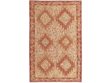 Tapis Kilim Soumak Shahsavan 201x129 Orange/Rose (Laine, Perse/Iran, Noué à la main)